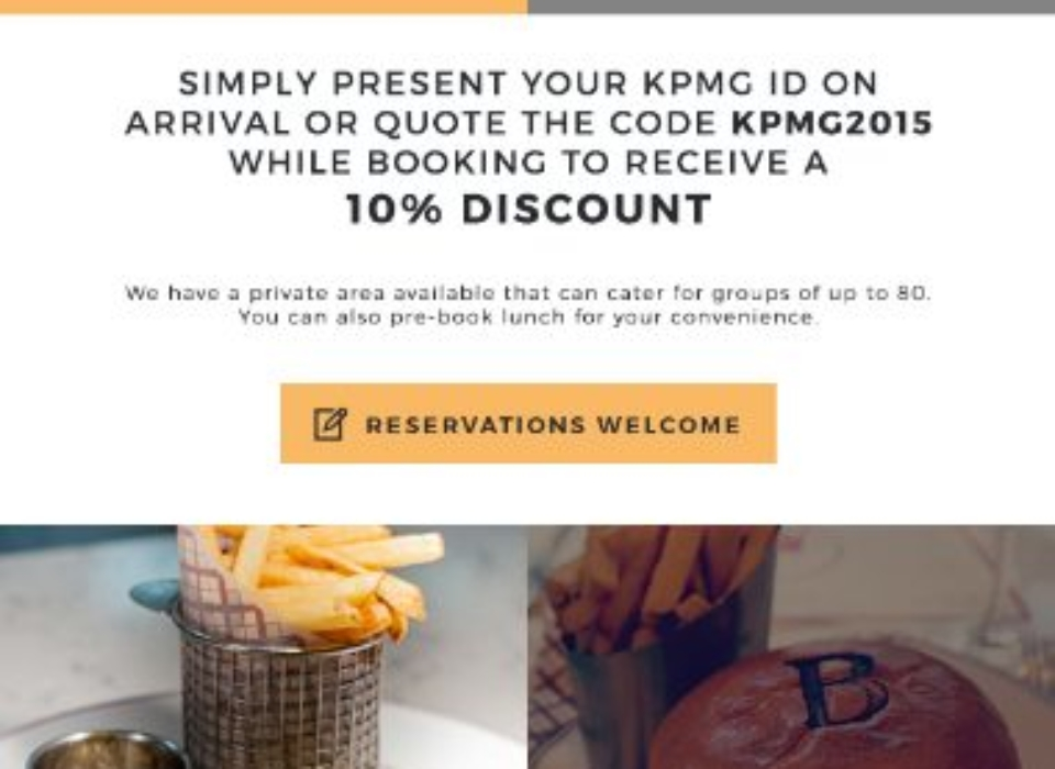 KPMG - Beeftro - Html Email