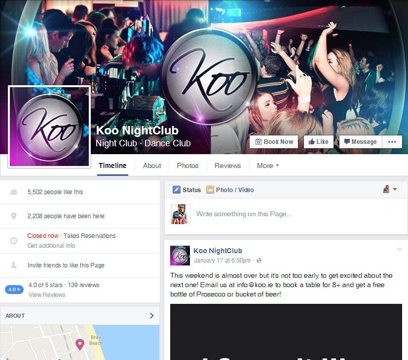 Koo NightClub - Redes Sociais